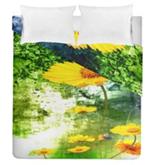 Yellow Flowers Duvet Cover Double Side (queen Size) by BangZart
