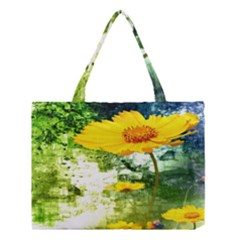 Yellow Flowers Medium Tote Bag