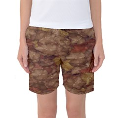 Brown Texture Women s Basketball Shorts
