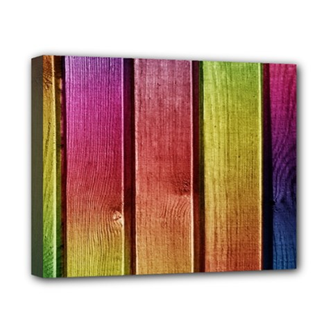 Colourful Wood Painting Canvas 10  X 8