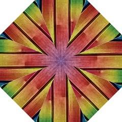 Colourful Wood Painting Folding Umbrellas
