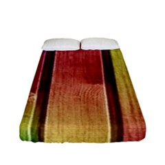 Colourful Wood Painting Fitted Sheet (full/ Double Size)