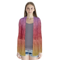 Colourful Wood Painting Cardigans