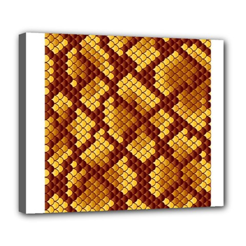 Snake Skin Pattern Vector Deluxe Canvas 24  X 20   by BangZart