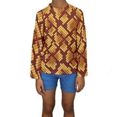 Snake Skin Pattern Vector Kids  Long Sleeve Swimwear