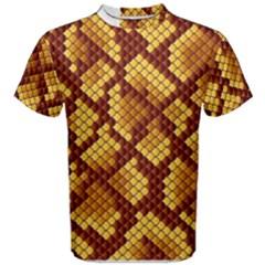 Snake Skin Pattern Vector Men s Cotton Tee