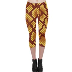 Snake Skin Pattern Vector Capri Leggings