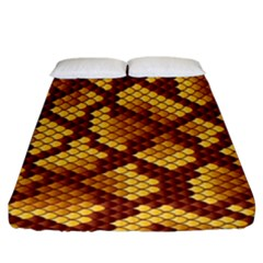 Snake Skin Pattern Vector Fitted Sheet (King Size)