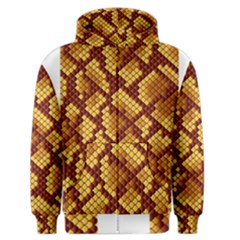 Snake Skin Pattern Vector Men s Zipper Hoodie