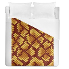 Snake Skin Pattern Vector Duvet Cover (queen Size) by BangZart