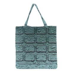 Water Drop Grocery Tote Bag by BangZart