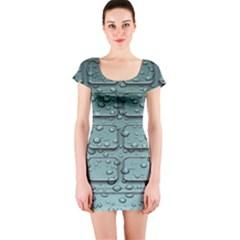 Water Drop Short Sleeve Bodycon Dress