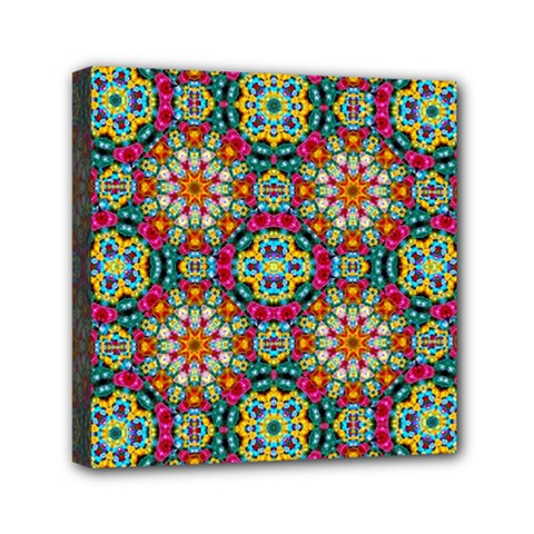 Jewel Tiles Kaleidoscope Mini Canvas 6  X 6  by WolfepawFractals