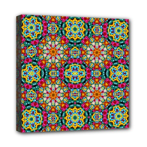 Jewel Tiles Kaleidoscope Mini Canvas 8  X 8  by WolfepawFractals