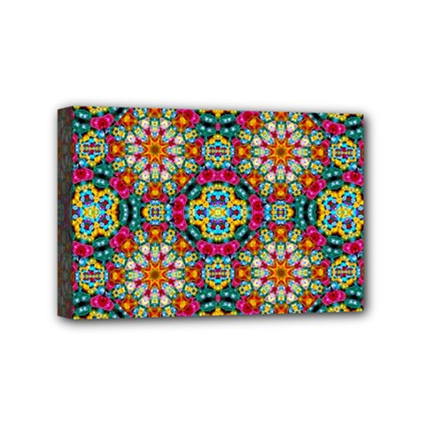 Jewel Tiles Kaleidoscope Mini Canvas 6  X 4  by WolfepawFractals