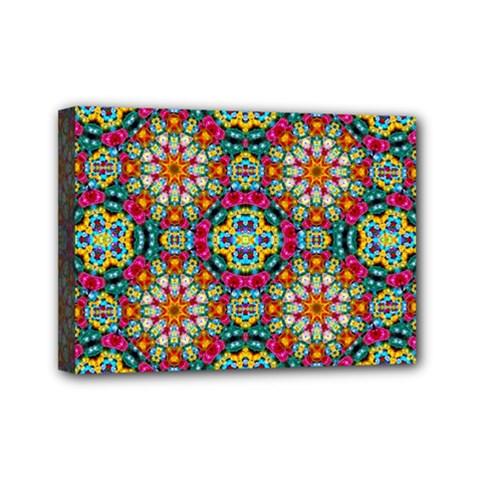 Jewel Tiles Kaleidoscope Mini Canvas 7  X 5  by WolfepawFractals