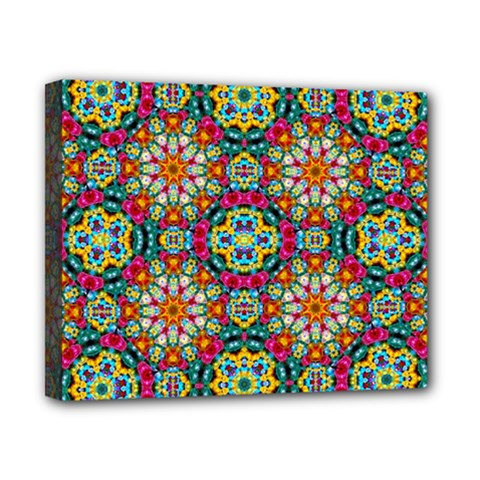 Jewel Tiles Kaleidoscope Canvas 10  X 8  by WolfepawFractals