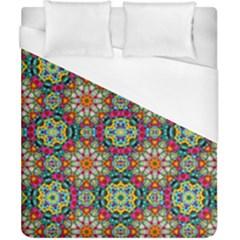 Jewel Tiles Kaleidoscope Duvet Cover (california King Size) by WolfepawFractals
