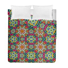 Jewel Tiles Kaleidoscope Duvet Cover Double Side (full/ Double Size) by WolfepawFractals