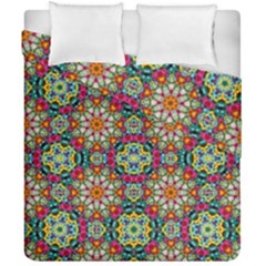Jewel Tiles Kaleidoscope Duvet Cover Double Side (california King Size) by WolfepawFractals