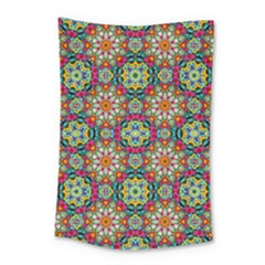Jewel Tiles Kaleidoscope Small Tapestry by WolfepawFractals