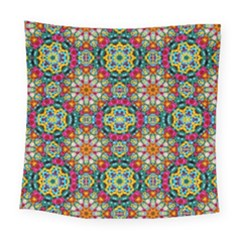 Jewel Tiles Kaleidoscope Square Tapestry (large) by WolfepawFractals