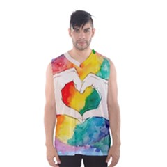 Pride Love Men s Basketball Tank Top by LimeGreenFlamingo