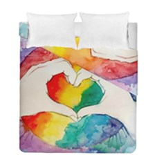 Pride Love Duvet Cover Double Side (full/ Double Size) by LimeGreenFlamingo