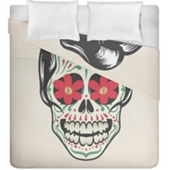 Man Sugar Skull Duvet Cover Double Side (king Size) by LimeGreenFlamingo