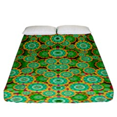 Flowers In Mind In Happy Soft Summer Time Fitted Sheet (king Size) by pepitasart