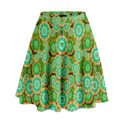 Flowers In Mind In Happy Soft Summer Time High Waist Skirt by pepitasart