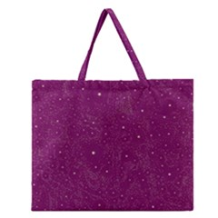 Awesome Allover Stars 01e Zipper Large Tote Bag by MoreColorsinLife