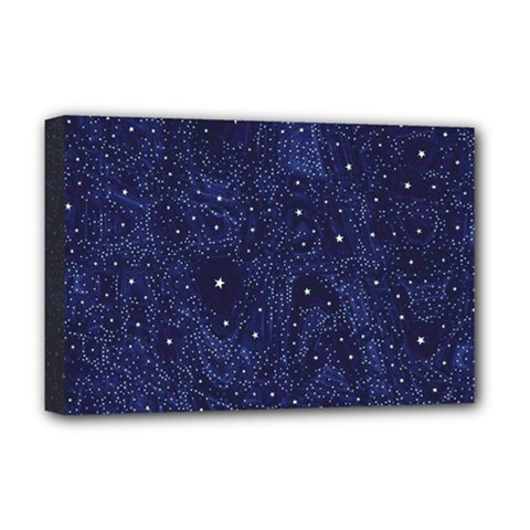 Awesome Allover Stars 01b Deluxe Canvas 18  X 12   by MoreColorsinLife