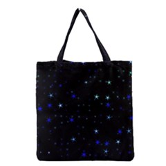 Awesome Allover Stars 02 Grocery Tote Bag by MoreColorsinLife