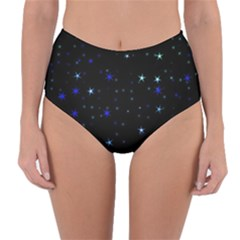 Awesome Allover Stars 02 Reversible High Waist Bikini Bottoms