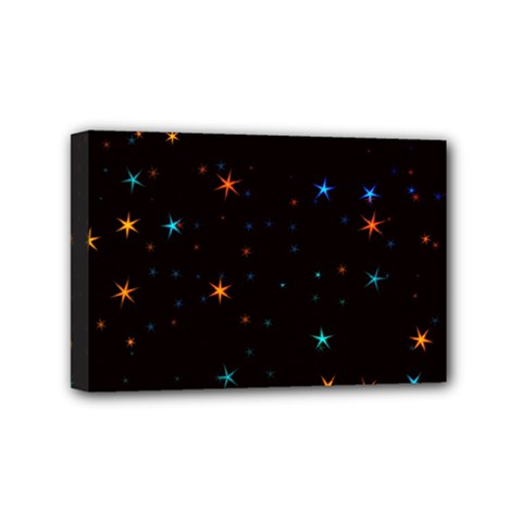 Awesome Allover Stars 02e Mini Canvas 6  X 4  by MoreColorsinLife