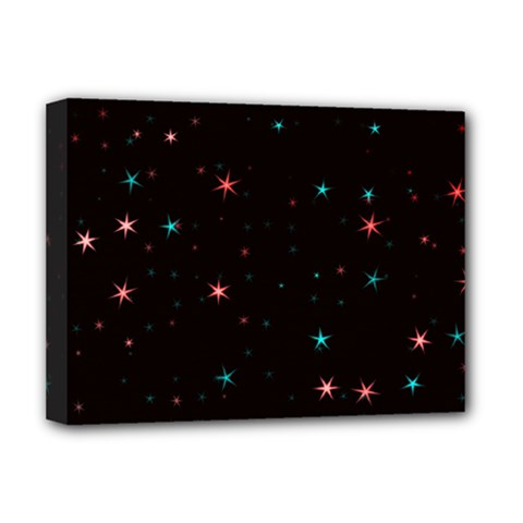 Awesome Allover Stars 02f Deluxe Canvas 16  X 12   by MoreColorsinLife