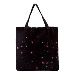 Awesome Allover Stars 02f Grocery Tote Bag by MoreColorsinLife