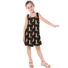 Foxes Kids  Sleeveless Dress by ChihuahuaShower