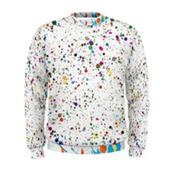 Colored Stains Pattern With Abstract Paint Splats  Men s Sweatshirt by LimeGreenFlamingo