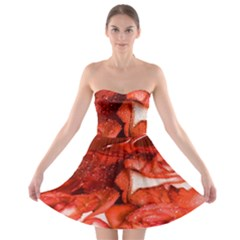 Nice Rose With Water Strapless Bra Top Dress