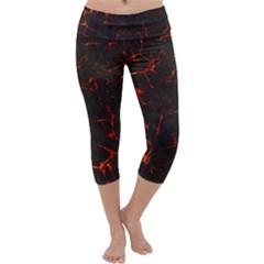 Volcanic Textures Capri Yoga Leggings