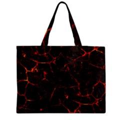 Volcanic Textures Medium Zipper Tote Bag