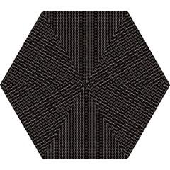 Dark Black Mesh Patterns Mini Folding Umbrellas by BangZart
