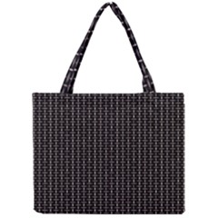 Dark Black Mesh Patterns Mini Tote Bag