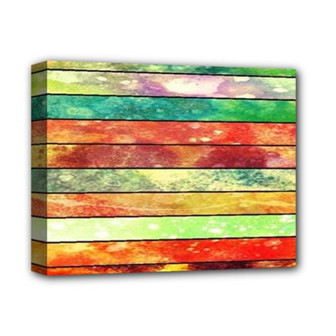 Stripes Color Oil Deluxe Canvas 14  X 11  by BangZart