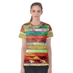 Stripes Color Oil Women s Cotton Tee