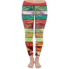Stripes Color Oil Classic Winter Leggings