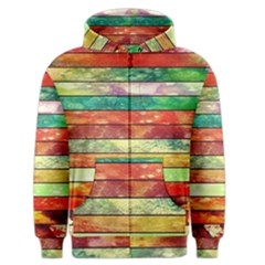 Stripes Color Oil Men s Zipper Hoodie