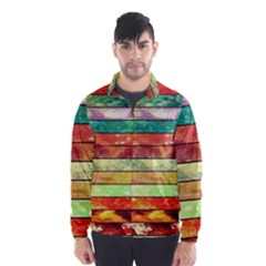 Stripes Color Oil Wind Breaker (men)